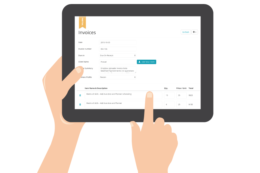 send your client well designed invoices and quotes fast and securely with cloudbillz
